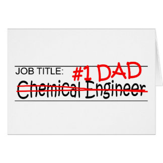 Tarjeta Inglés de Chem del papá del trabajo
