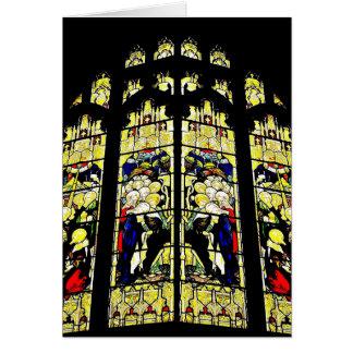 Tarjeta inglesa vieja del vitral