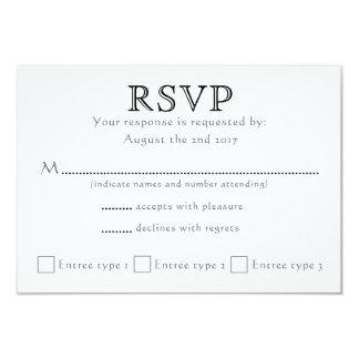Tarjeta Iniciales célticas del nudo - RSVP - negro y