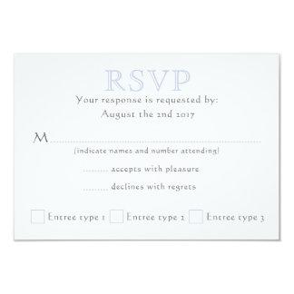 Tarjeta Iniciales célticas del nudo - RSVP - niebla - 2