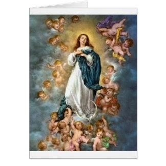 Tarjeta Inmaculada Concepción de Maria