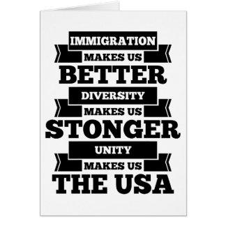 Tarjeta Inmigración los E.E.U.U.