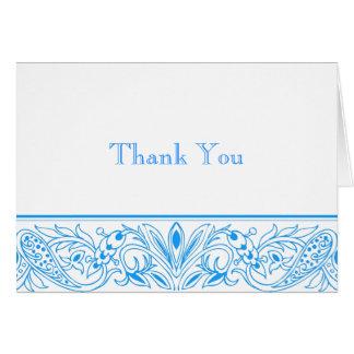 Tarjeta Inmóviles azules prístinos y le agradecen las
