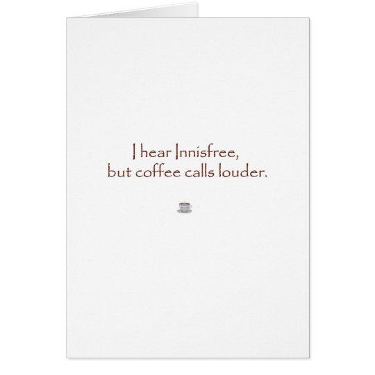 Tarjeta Innisfree contra el café