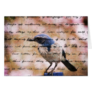 Tarjeta Inspiración azul del pájaro