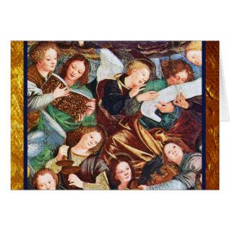 Tarjeta Inspiración de los ángeles del músico