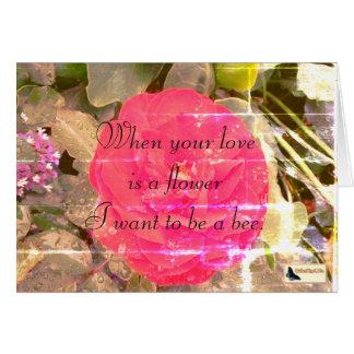 Tarjeta inspirada - amor