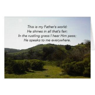 Tarjeta inspirada: Éste es el mundo de mi padre
