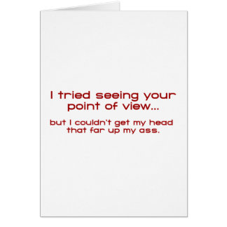 Tarjeta Intenté ver su Point of View - pero no podría