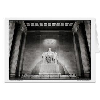 Tarjeta Interior conmemorativo de Lincoln