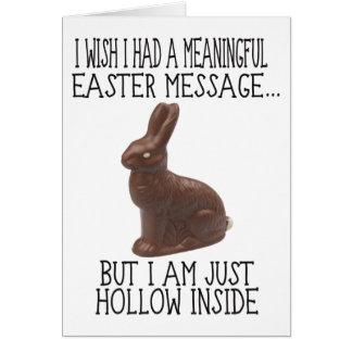 Tarjeta Interior Pascua divertida del hueco