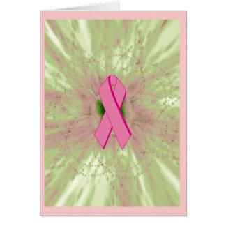 Tarjeta Interior Tarjeta-en blanco de la cinta rosada