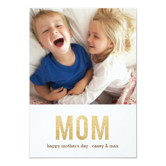 Tarjeta intrépida de la foto del día de madre de