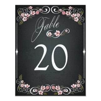 Tarjeta intrépida de la tabla del boda del vintage
