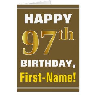 Tarjeta Intrépido, Brown, 97.o cumpleaños del falso oro