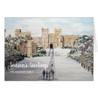 Tarjeta Invierno en el navidad del castillo de Windsor