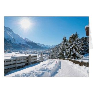 Tarjeta Invierno en St Moritz