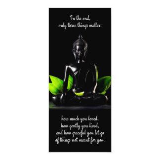 Tarjeta/invitación de la cita 3 de Buda Invitación 10,1 X 23,5 Cm
