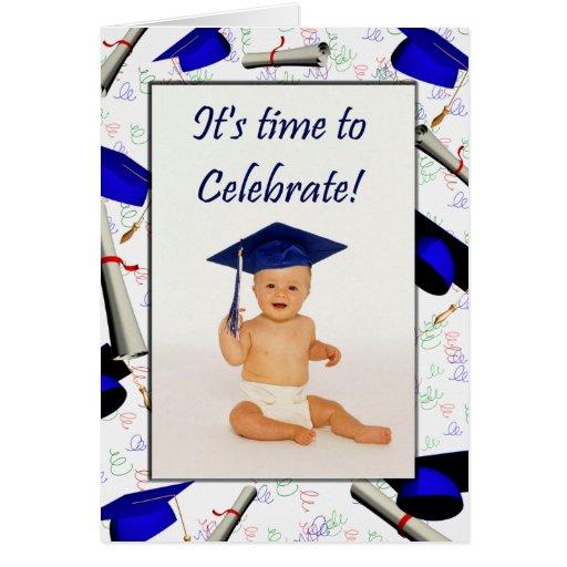 Tarjeta/invitación de la graduación tarjeta de felicitación