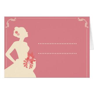 Tarjeta Invitación de matrimonio Vintage