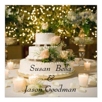 Tarjeta Invitación--Pastel de bodas