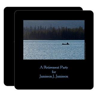 Tarjeta Invitación, pescador e hijo del fiesta de retiro