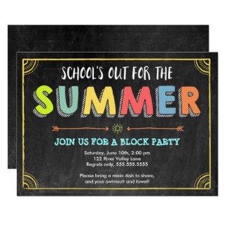 Tarjeta Invitación-School del verano de la fiesta de