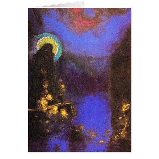 Tarjeta/invitación: Virgen María con la corona por de Zazzle.