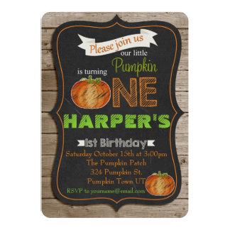 Tarjeta Invitaiton de la fiesta de cumpleaños de Pumpking