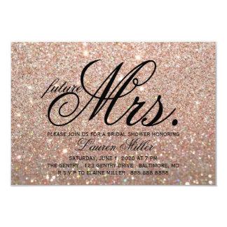 Tarjeta Invite - a señora futura fabulosa Bridal de Glit
