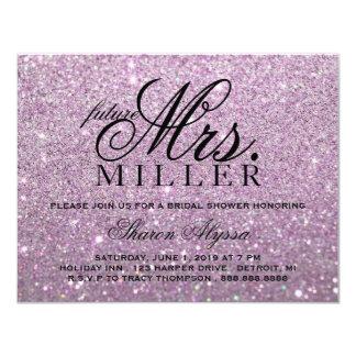 Tarjeta Invite - a señora futura púrpura Bridal Shower de