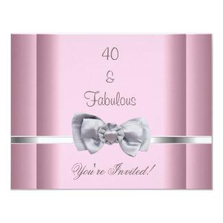 Tarjeta Invite rosa fabuloso de la imagen del arco de la