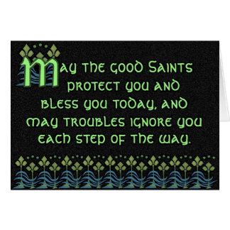 Tarjeta irlandesa sustancial de la bendición - per