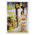 Tarjeta Isla del día de fiesta de Cuba del poster del