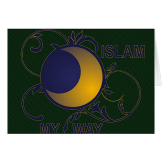 Tarjeta Islam mi silueta adornada de la luna de la manera