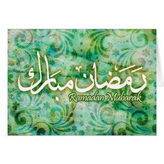 ¡Tarjeta islámica del arte del papel hecho a mano Tarjeta Pequeña