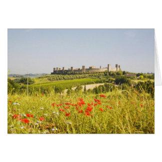 Tarjeta Italia, Monteriggioni, opinión del campo de