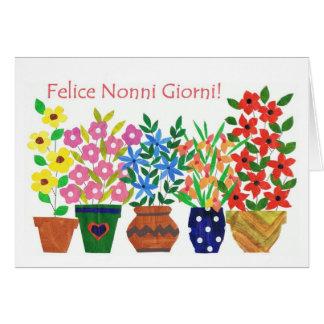 Tarjeta italiana del día de los abuelos del saludo