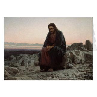 Tarjeta Ivan Kramskoy- Cristo en el desierto