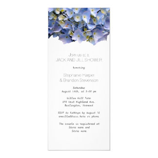 Tarjeta Jack floral azul y ducha del boda de Jill