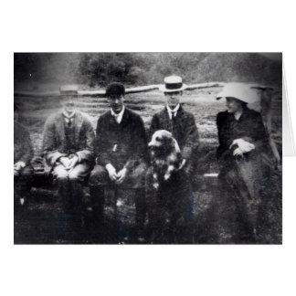 Tarjeta James y Lytton Strachey con Thoby, Adrian