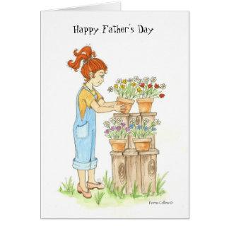Tarjeta Jardín del día de padre del amor