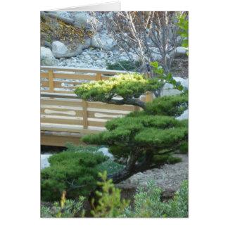 Tarjeta Jardín del zen