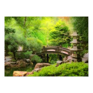 Tarjeta Jardín japonés - agua debajo del puente