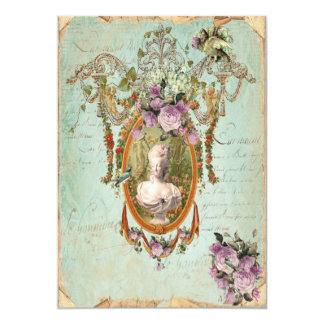 Tarjeta Jardines antiguos de Marie Antonieta Versalles 5 x
