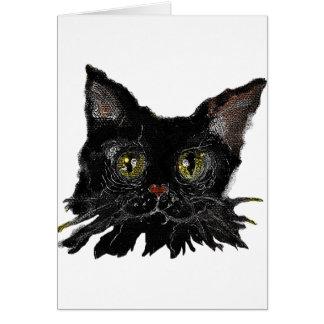Tarjeta JASPE - su gato negro de HALLOWEEN