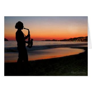 Tarjeta Jazz por la puesta del sol