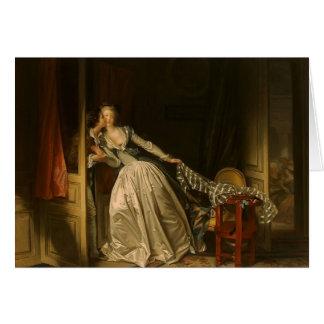 Tarjeta Jean-Honore Fragonard- el beso robado
