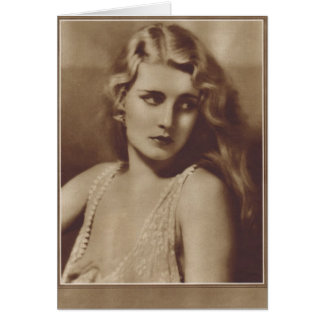 Tarjeta Jeanette Loff 1929