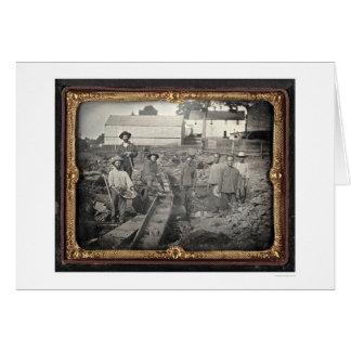 Tarjeta Jefe del barranco castaño, 1852 de José Blaney